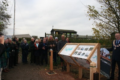 Cllr henry bass and paul jeffries saltmarsh coast visitor information hub resized