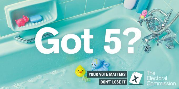 Got 5? Your Vote Matters, Don't Lose It