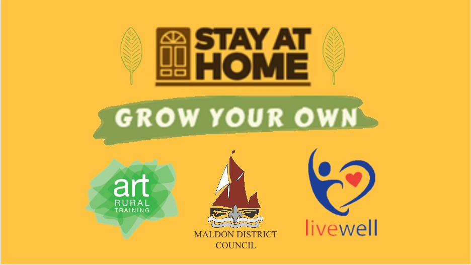 Stay at home, grown your own logo