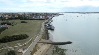 view of the Burnham and the River Crouch